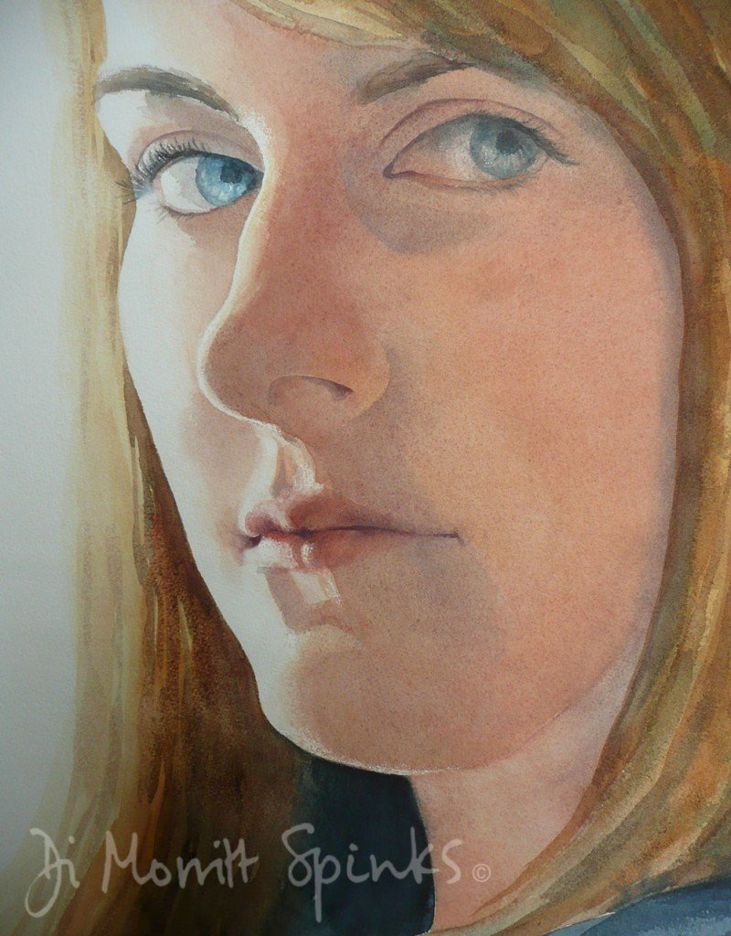 Lucy – watercolour – 50 x 70